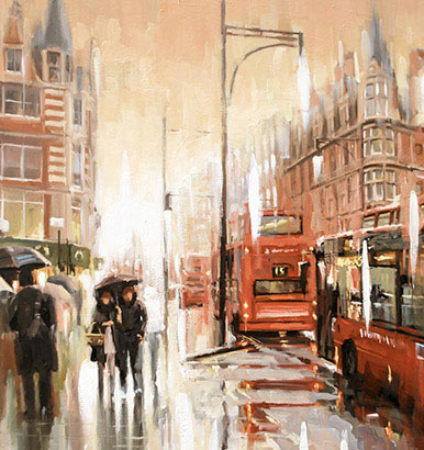 Johnny Morant - Oxford street in the rain