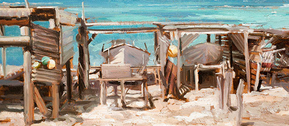 Johnny Morant - Fishing boats, Ibiza