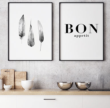 Posters, canvas and wall art for the kitchen