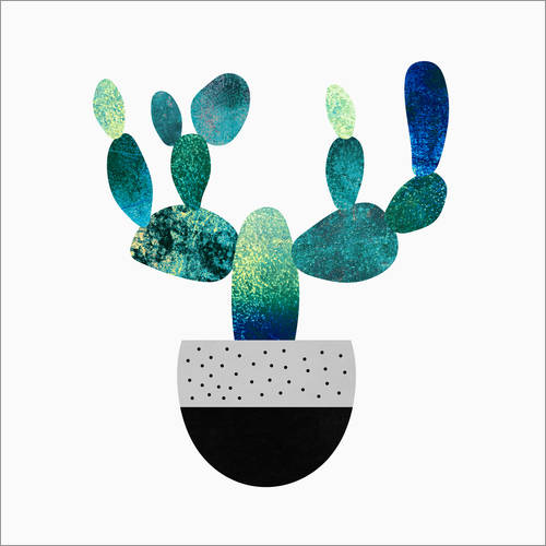 Wall Stickers Cactus Blue