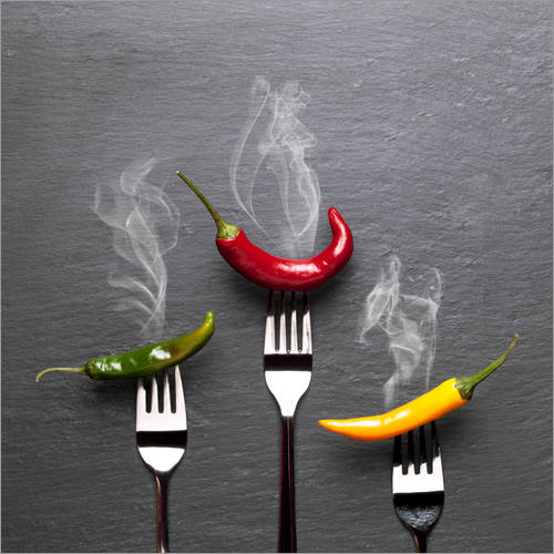 Wall sticker steaming colorful chili peppers