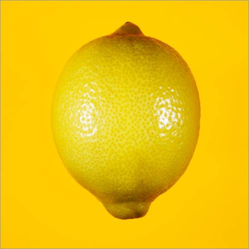 Wall Stickers Lemon against yellow background