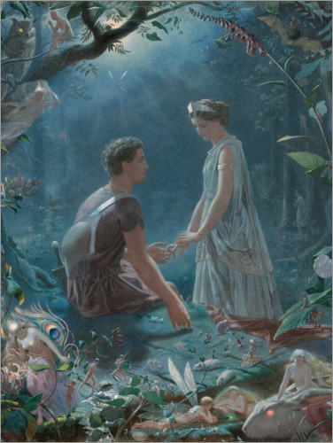 Premium poster Hermia and Lysander (A Midsummer Night's Dream)