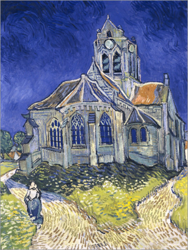 Premium poster The Church at Auvers-sur-Oise