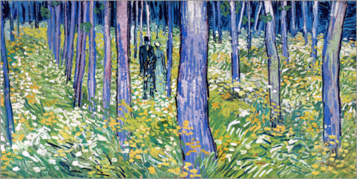 Premium poster Undergrowth with two figures