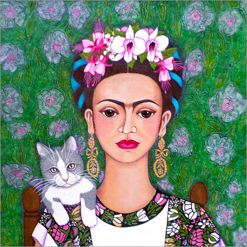 Wall sticker Frida cat lover