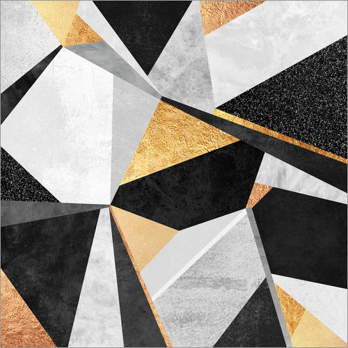 Wall sticker Geometry Gold