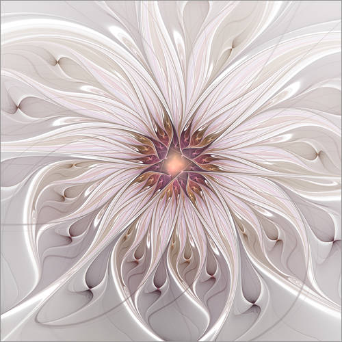 Wall sticker Floral Fantasy, Abstract Fractal Art