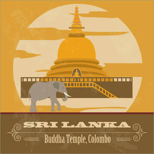 Wall sticker Sri Lanka - Buddha Temple