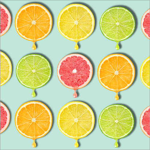 Wall sticker coloring fruit