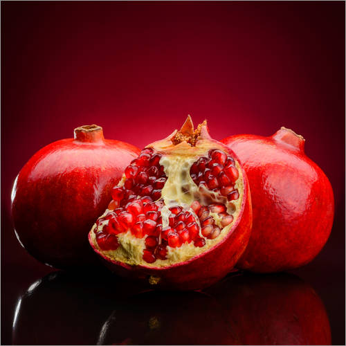 Wall Stickers red pomegranate fruits