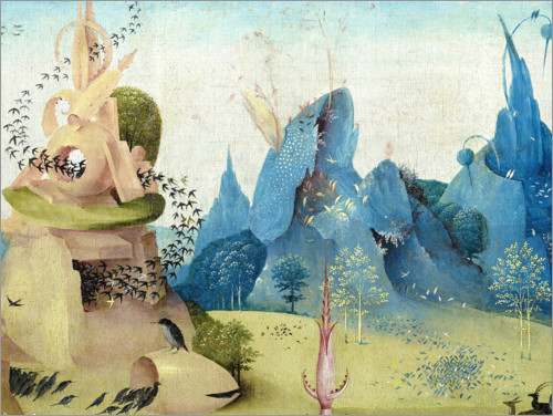 Premium poster Garden of Earthly Delights, Paradise (detail)