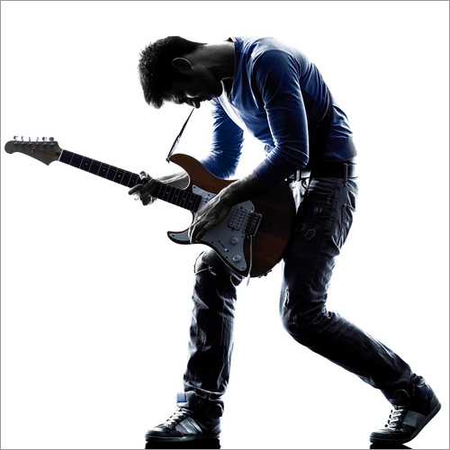 Wall Stickers Musician with an electric guitar