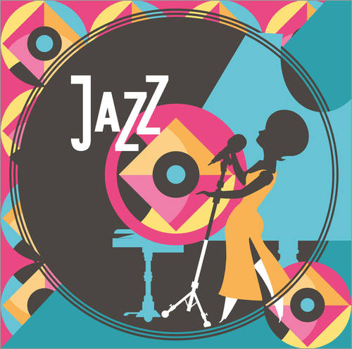 Wall sticker jazz