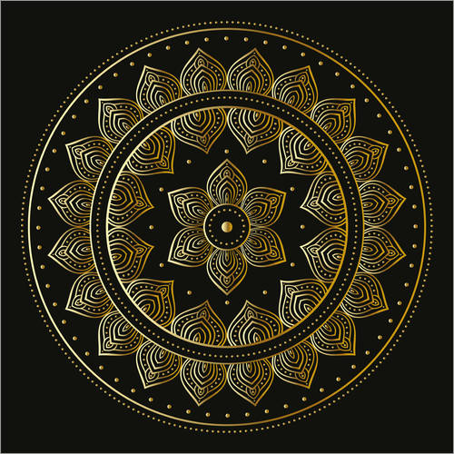 Wall sticker Mandala on black