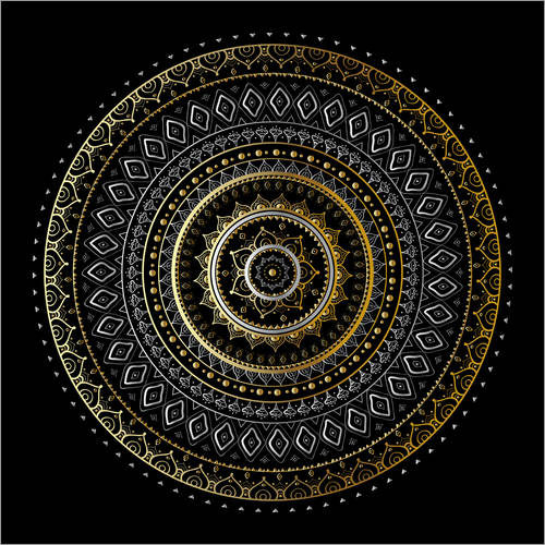 Wall Stickers Mandala Gold/Silver