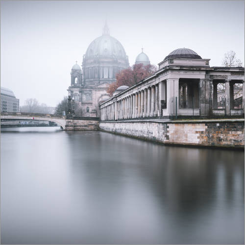 Wall sticker Berlin Cathedral in winter fog