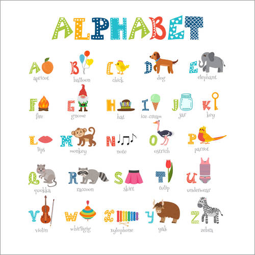 Wall sticker Cheerful alphabet (English)