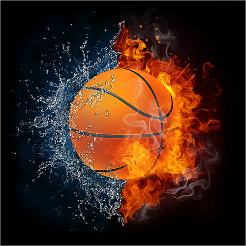 Wall sticker Basketball in the battle of the elements