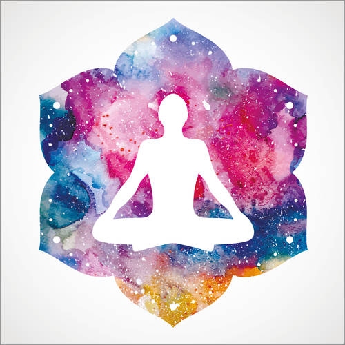 Wall sticker Lotus position Water Color