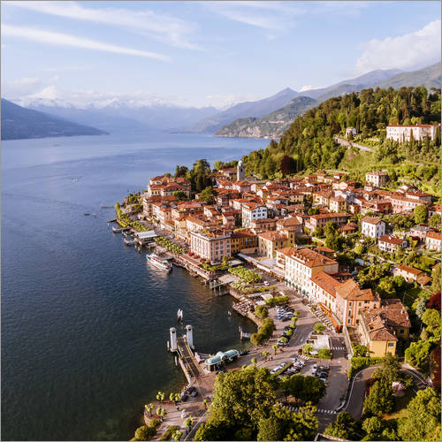 Wall sticker Aerial view of Bellagio on beautiful lake Como