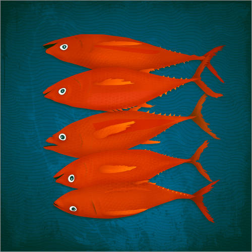 Wall sticker red fish
