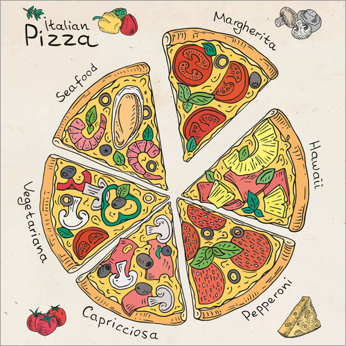Wall sticker Pizza Time