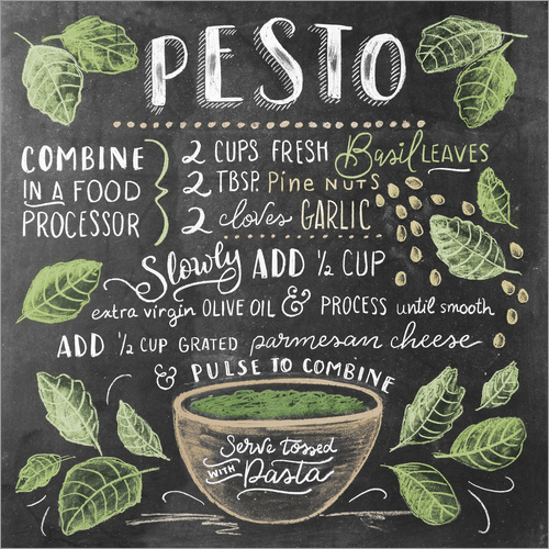 Wall sticker Pesto recipe