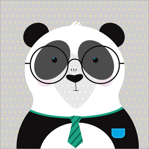 Wall sticker Panda with Glasses