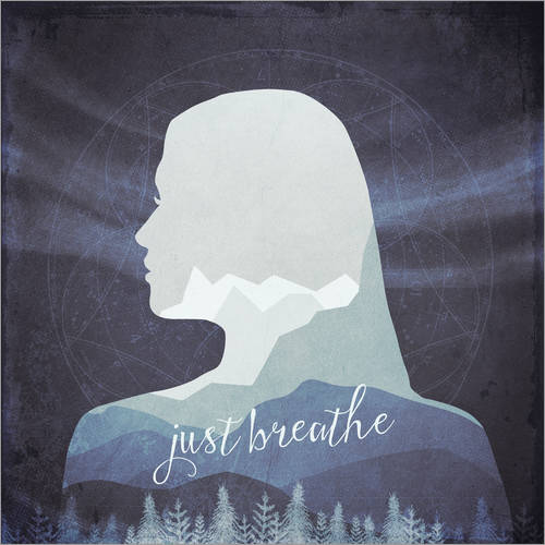 Wall sticker Just breathe