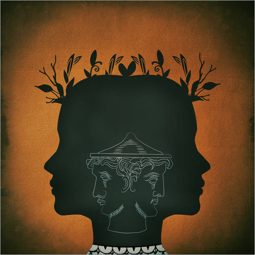 Wall sticker Janus