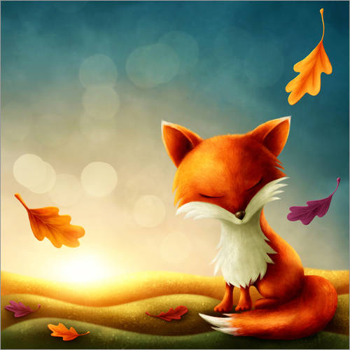 Wall sticker Little red fox