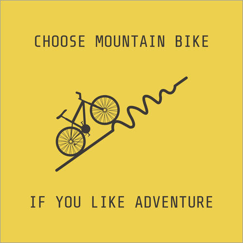 Wall sticker Mountain bike for climbers