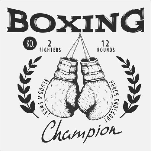 Wall sticker Boxing champion