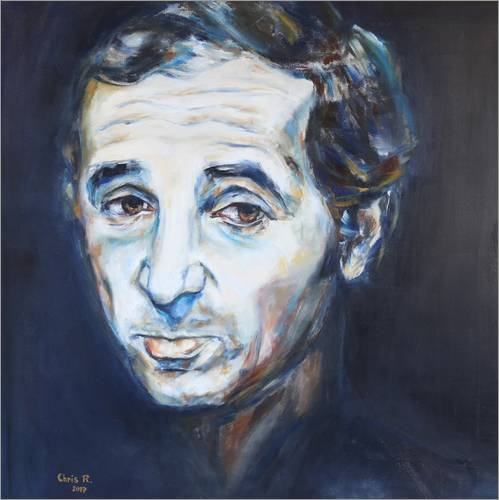 Wall sticker Charles Aznavour, Hier Encore