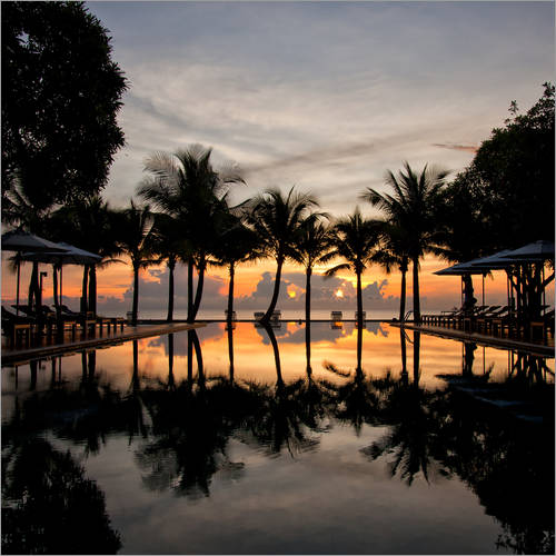 Wall sticker Luxury infinity pool on the Gulf of Thailand