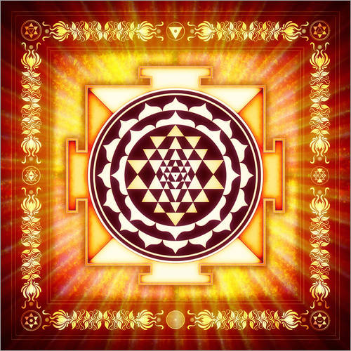 Wall sticker Sri Yantra Energy Light
