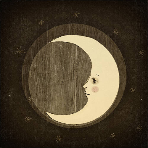 Wall sticker Moon in the night