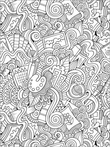 Colouring poster Artistic Equipment