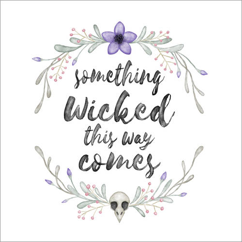 Wall sticker Something wicked