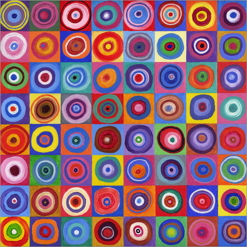 Wall sticker Square of circles according to Kandinsky