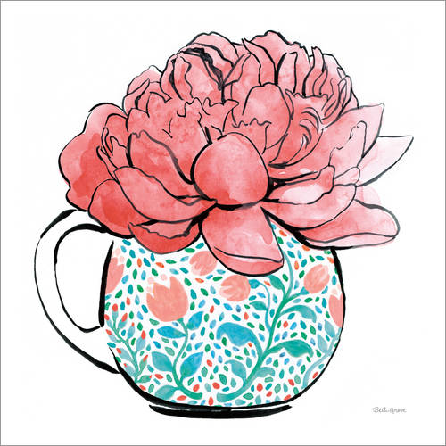 Wall sticker Floral Teacups I