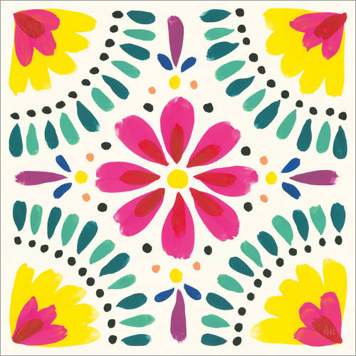 Wall sticker Flower Fiesta X