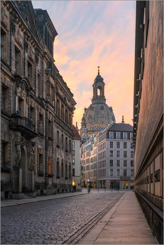 Premium poster Frauenkirche Dresden in the morning light