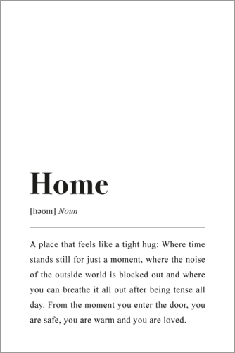 Poster Home Definition