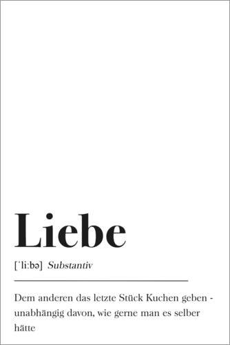 Premium poster Liebe Definition (German)