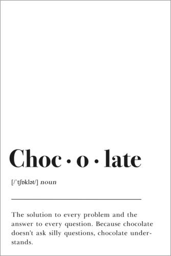 Poster Chocolate Definition