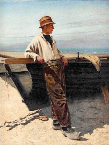 Premium poster Fisherman by the sea