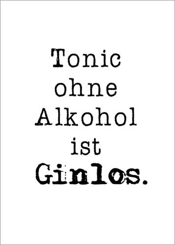 Premium poster Tonic without alcohol