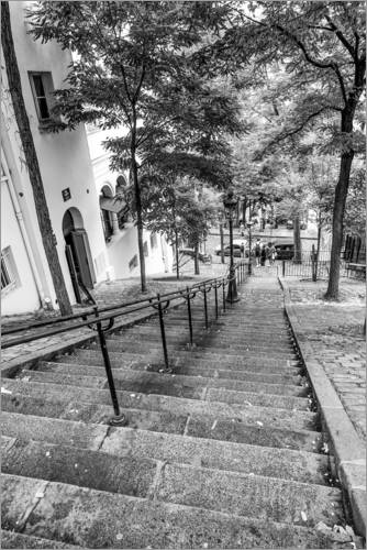Premium poster Endless steps to Montmartre